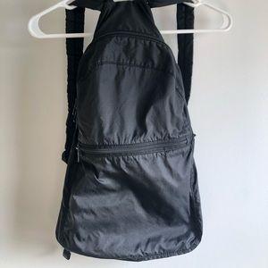 baggu black nylon packable backpack